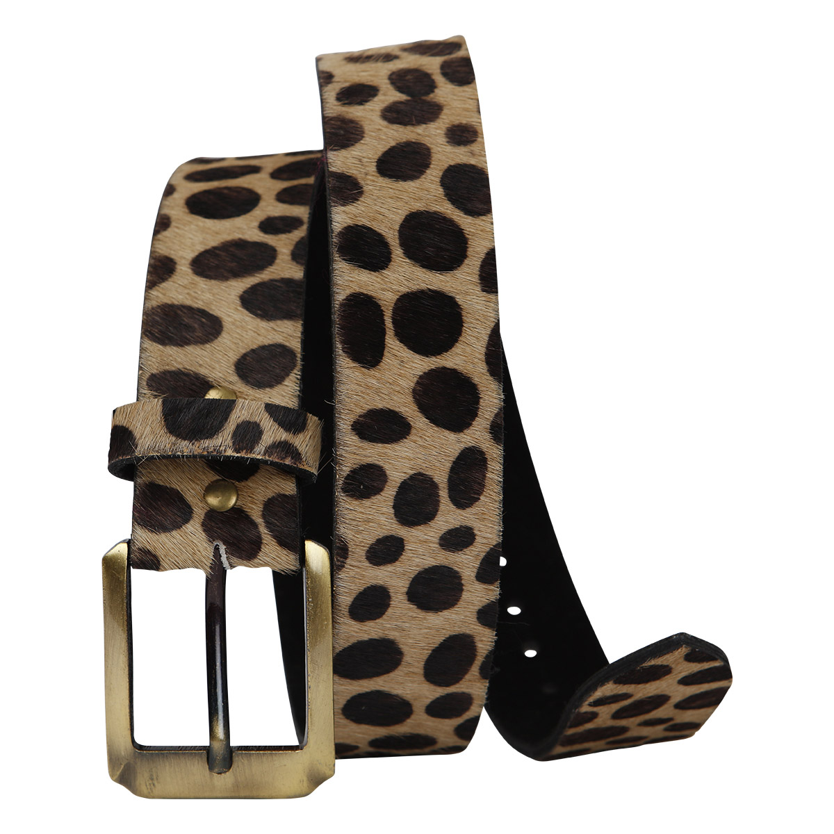 Anna Belt Animal Print Brown