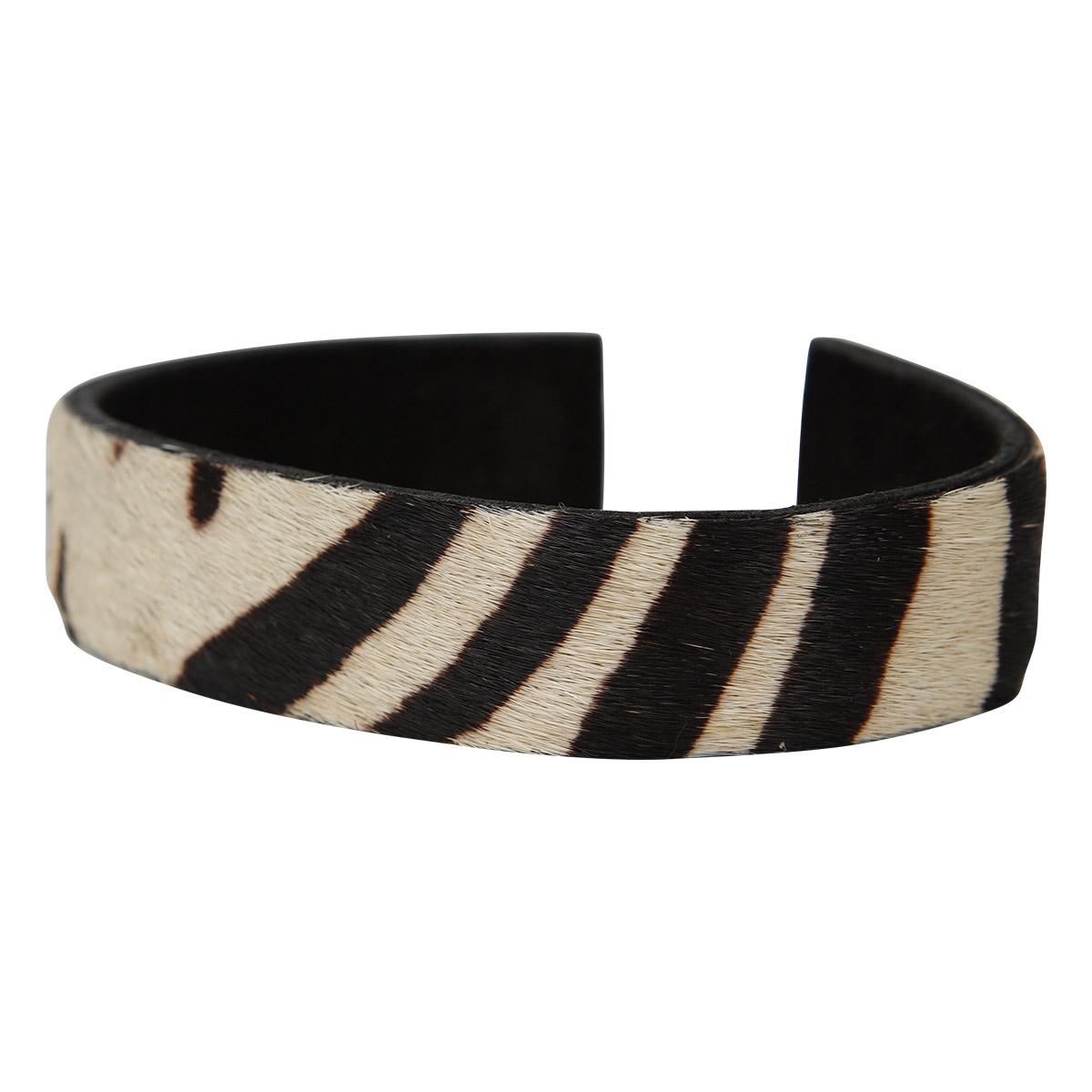Anna Bracelet Animal Print White Stripe