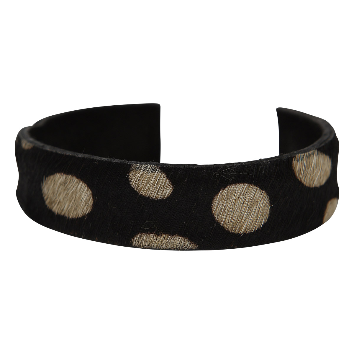 Anna Bracelet Animal Print Black Dots