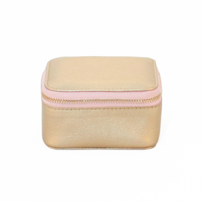 Jewellery Box Gold Light Pink