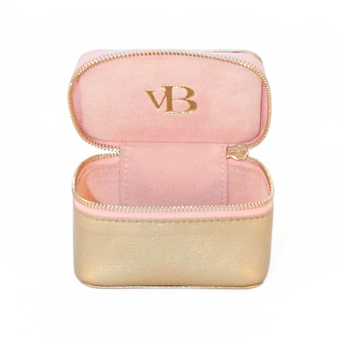 Jewellery Box Gold Light Pink