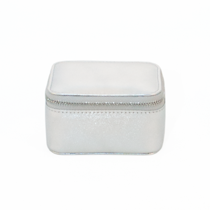 Jewellery Box Silver Light Pink