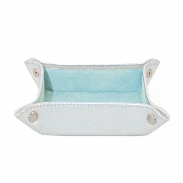 Jewellery Tray Silver Light Blue