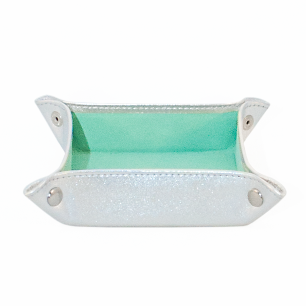 Jewellery Tray Silver Turquoise