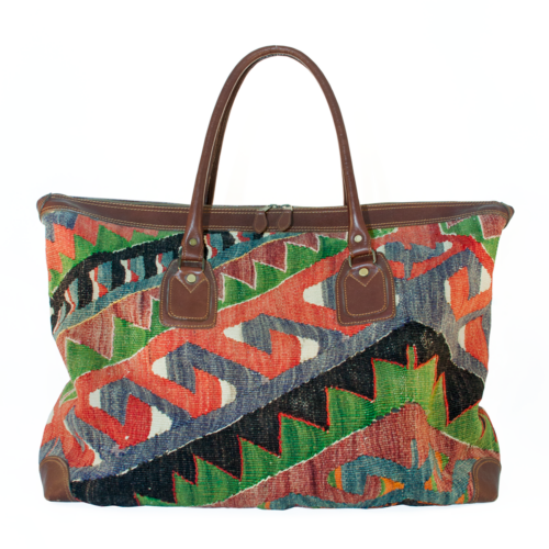 Weekend Bag Kelim Brown