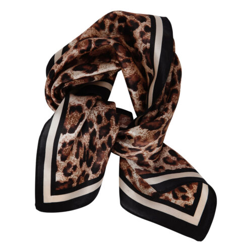 Clara Scarf Leopard Brown