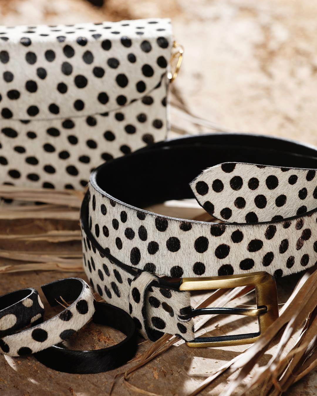 Anna Belt Animal Print White