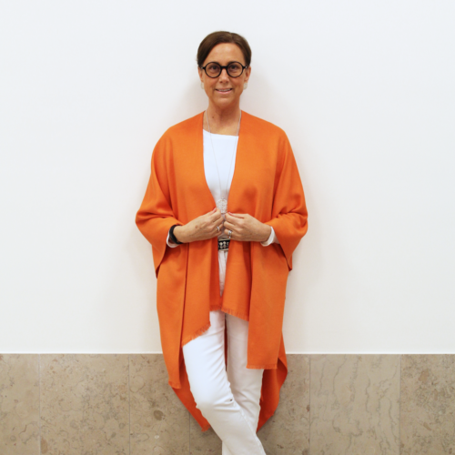 Davos Poncho Orange