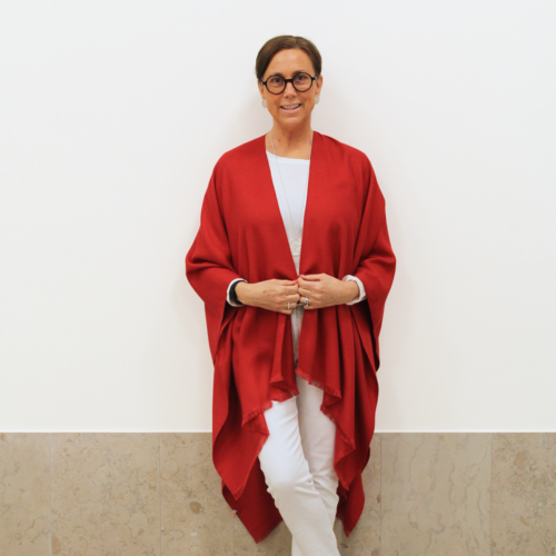 Davos Poncho Red