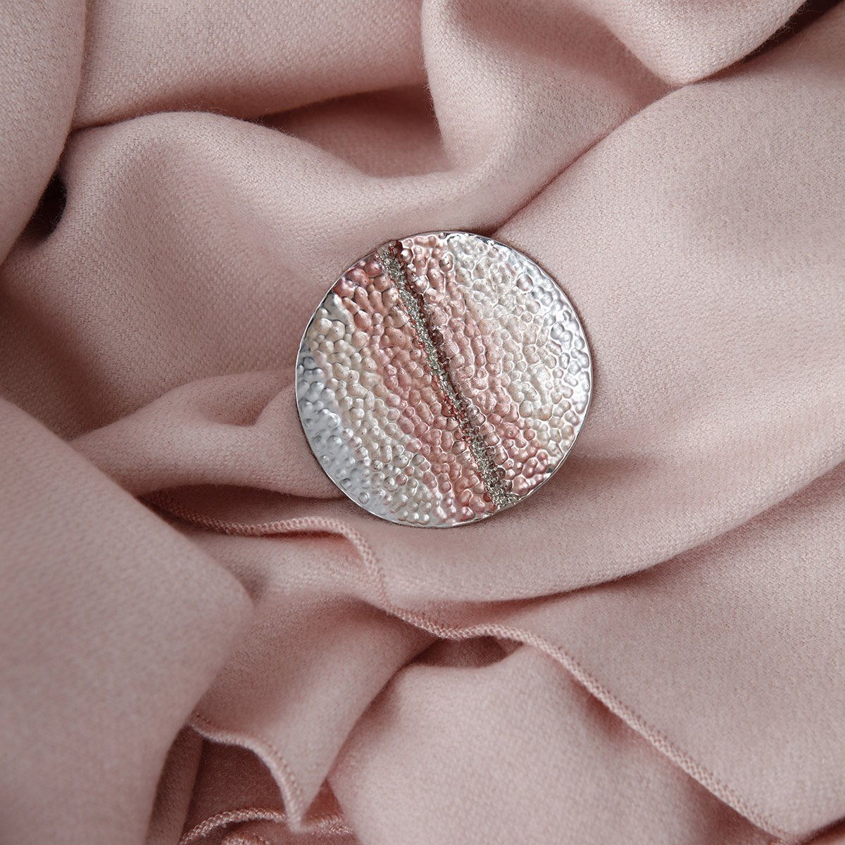 Ruthie Brooch Silver Pink