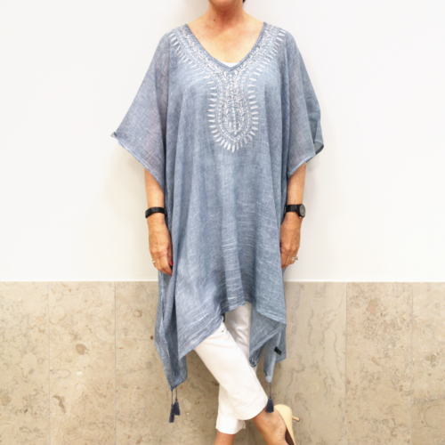 Wilma Kaftan Denim